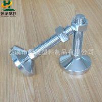 全钢镀铬重型脚杯,HMC80-M24100机械承重脚杯,恒茂高品质调整杯脚