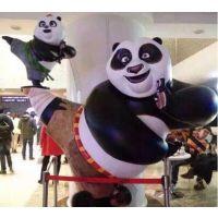 熊猫雕塑 户外功夫熊猫雕塑摆件 玻璃钢熊猫雕塑 大型熊雕塑订做 卡通熊猫雕塑 城市公园广场门口摆件