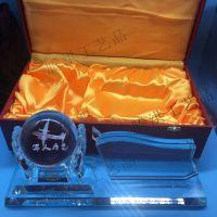 北京老兵退伍纪念品,空军退伍水晶摆件,河北部队水晶相框纪念品定制腾洪