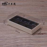 天然木材 3粒烘焙芝士蛋糕盒 小西点盒子