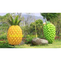 巨型蔬菜基地绿色雕塑 瓜果植物玻璃钢菠萝主要观赏设计图