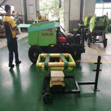 贵州养殖用玉米秸秆粉碎打捆机价格 站立倒伏秸秆专用灭茬揉丝型打包机参数