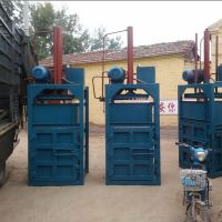 四柱加固半自动打包机 气泡膜压包机 油桶压扁机厂家