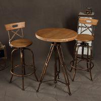 海德利咖啡厅专用铁艺复古户外阳台休闲吧奶茶店咖啡厅酒吧桌椅组合创意