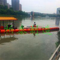 杭州水库鱼塘清淤浮体 水电站漂浮物拦截浮桶