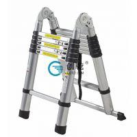 创乾竹节伸缩两用梯CQHM-3.8M 铝合金折叠关节可折叠人字梯工程梯