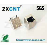 ZXCNT品牌供应RJ45百兆变压器立式带灯网口插座兼容HR951180A