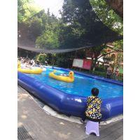 游泳池气垫生产商家电话 超大型帆布游泳池定做报价 室外水上乐园气模水池哪买