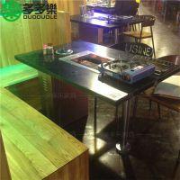 哪里可以定制韩式主题烧烤桌 音乐烧烤店烤肉桌 多多乐家具