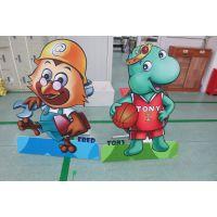 深圳POP立牌制作 异形背景板 人形 卡通立牌组装