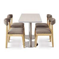 海德利 简约现代 个性拼色定制 音乐餐厅主题餐厅咖啡厅茶餐桌实木桌子