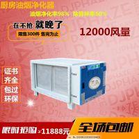 环保认可低空油烟净化器 饭店餐饮烧烤商用 静电分离器12K风量