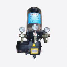 电压24V/220V/380V带压力表四出口搅拌机电动润滑黄油泵 锂基脂润滑泵