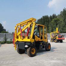 新耀厂家直销公路护栏打桩装载机改装高效优质