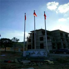 新云 大型公司集团品牌展示不锈钢旗杆 精品拉丝不锈钢国旗杆15米