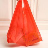 福洪塑料手提一次性塑料袋蓝色垃圾袋 家用厨房垃圾袋 背心袋厂家直销