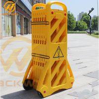 出口级优质PVC塑料伸缩护栏 临时可移动折叠式围栏 电梯维护