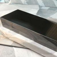 佛山现货促销201不锈钢黑钛方管、拉丝黑钛金装饰薄管!