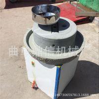 供应芝麻酱石高硬度电动石磨机 鼎信工厂直销豆浆石磨机