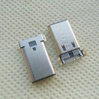 沉板贴片type-c公头 USB-C双排20P贴板-180度SMT type-c板端公头