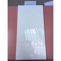 凹凸非平面水波S形白色亮光室内墙砖阳台砖30*60cm