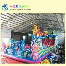 儿童公园游乐设备厂家充气城堡好玩孩子的游乐园
