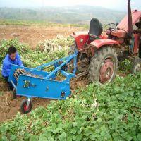 陕西高效红薯挖掘机图片 小型土豆起挖机 马铃薯收获机操作视频