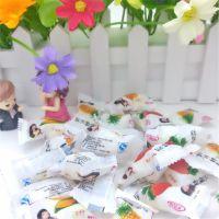 美食王 鲜乳球 500G散装 脆皮水果软糖 多种口味混装 非喜糖糖果