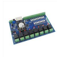 WIFI以太网控制器 8路可配置输入网络继电器 远程控制板 USR-IO88