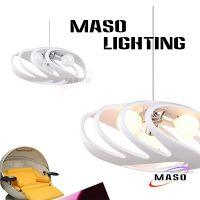 玛斯欧MASO灯饰螃蟹壳树脂创意现代餐厅吊灯三头E27可替换光源CE认证MS-P1025