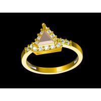 批发红水晶男戒指 神戒指 金戒指不亮了—金属饰品加工厂家