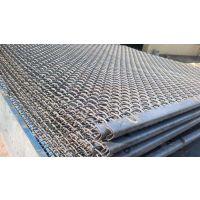 筛石头轧花网、粉石机用振动筛网、锰钢轧花网