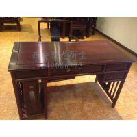 西安仿古实木办公桌、红木办公台、中式老榆木办公桌、定做厂家