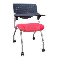 移动会议椅带写字板培训椅职员椅电脑椅网布办公椅会议记录椅