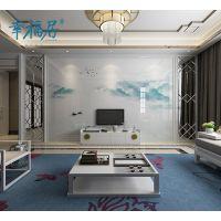 幸福居原创3D图案背景墙定制生产客厅电视墙造型设计