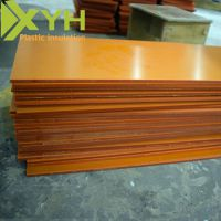 雄毅华橘红色电木板整板批发 耐温酚醛树脂板零切任意尺寸 来图加工定制