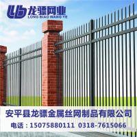 小区围墙铁艺栏杆 小区锌钢围栏工程 学校围墙锌钢护栏