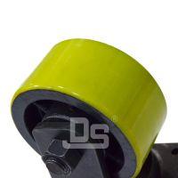 大世脚轮 6寸平顶聚氨酯脚轮 带防尘盖pu推车轮子 超级耐用