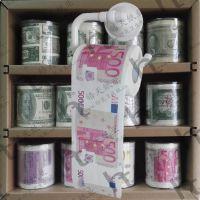 欧元彩色印花木浆卷筒卫生纸
