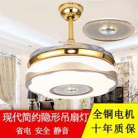 欧式蓝牙音乐隐形风扇灯LED复古现代吊扇灯饰 LED风扇灯