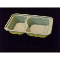 602 一次性 两格 外卖便当盒 打包盒 双格餐盒 微波餐盒 环保餐具