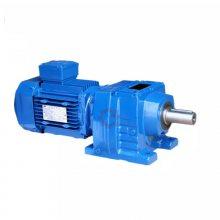 沃旗DLR07-DM112M-4齿轮减速电动机R57-53.33-Y1.1KW减速机
