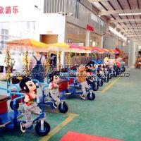 广场公园动物拉车 小洋人拉车 毛绒动物机器人车 儿童毛绒动物拉车