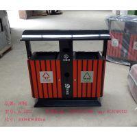 优质镀锌板定制款木条垃圾桶 分类果皮箱 市政垃圾桶
