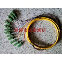 广电级单模尾纤SC-APC12芯束状尾纤光纤外径