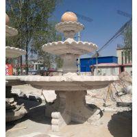 大型石雕喷泉风水球安装实例_大连石雕喷泉风水球厂家_永权雕塑
