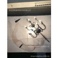 金属网吊灯厂家铭星灯饰专业定制新款美女人体造型艺术装饰吊灯具