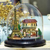 浪漫巴黎小屋迷你DIY模型手作材料新奇特大人休闲拼装玩具