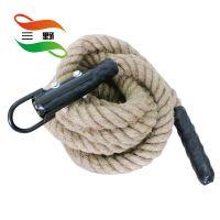 厂家供应生产三野牌MMA格斗绳 健身绳 战绳30/38/50mm训练绳 黄麻绳甩绳