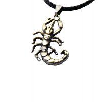 星座饰品古青铜天蝎吊坠蝎子项链 可调节韩国蜡线 工厂直销 大量现货 各种款式